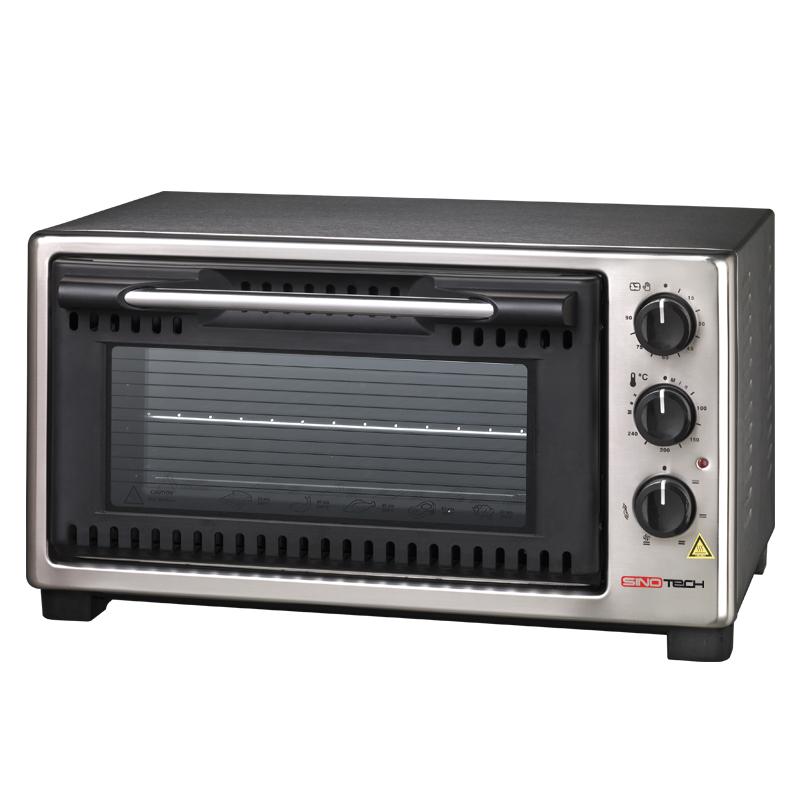 Forno elettrico ventilato 45 litri in acciaio con girarrosto acquista on line sinotech - Pizza forno elettrico casa ...